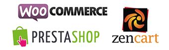 Woocommerce, Prestashop & Zencart